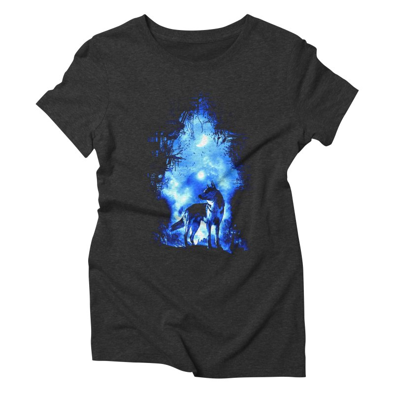 Dart night wolf Women's Triblend T-shirt by saksham's Artist Shop