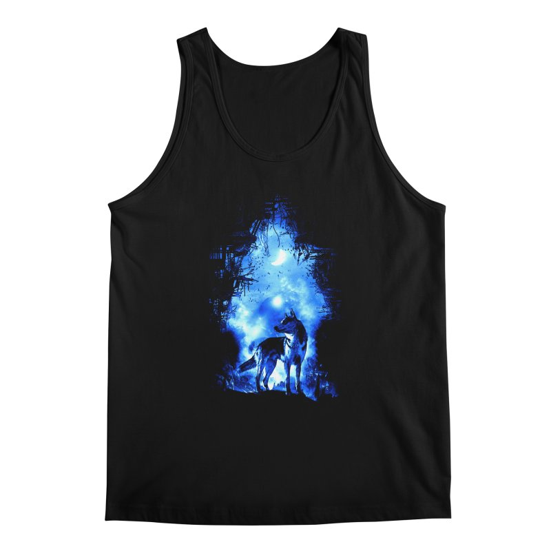 Dart night wolf Men's Tank by saksham's Artist Shop