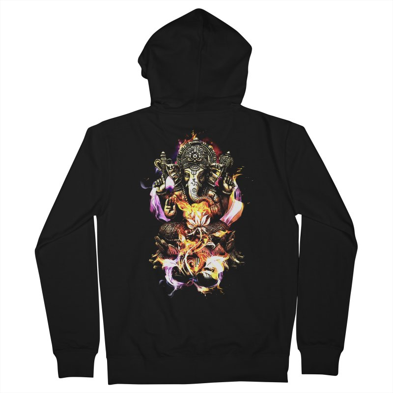 Om Ganeshay Namah Women's French Terry Zip-Up Hoody by saksham's Artist Shop