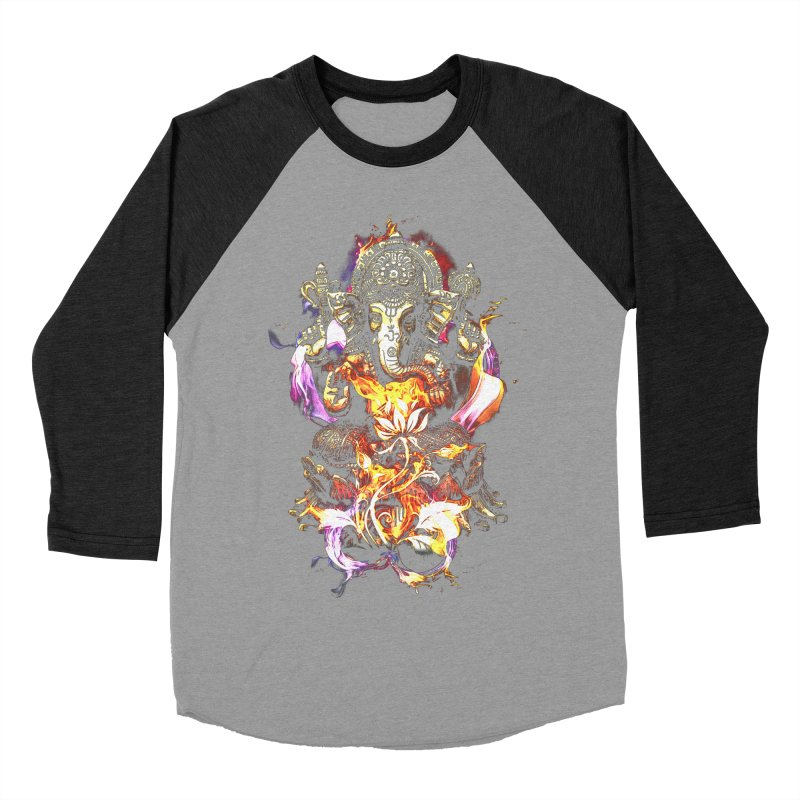 Om Ganeshay Namah Men's Baseball Triblend T-Shirt by saksham's Artist Shop