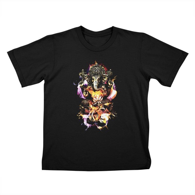 Om Ganeshay Namah Kids T-shirt by saksham's Artist Shop