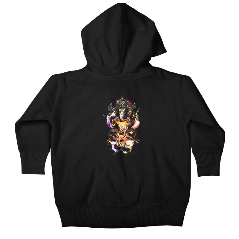 Om Ganeshay Namah Kids Baby Zip-Up Hoody by saksham's Artist Shop