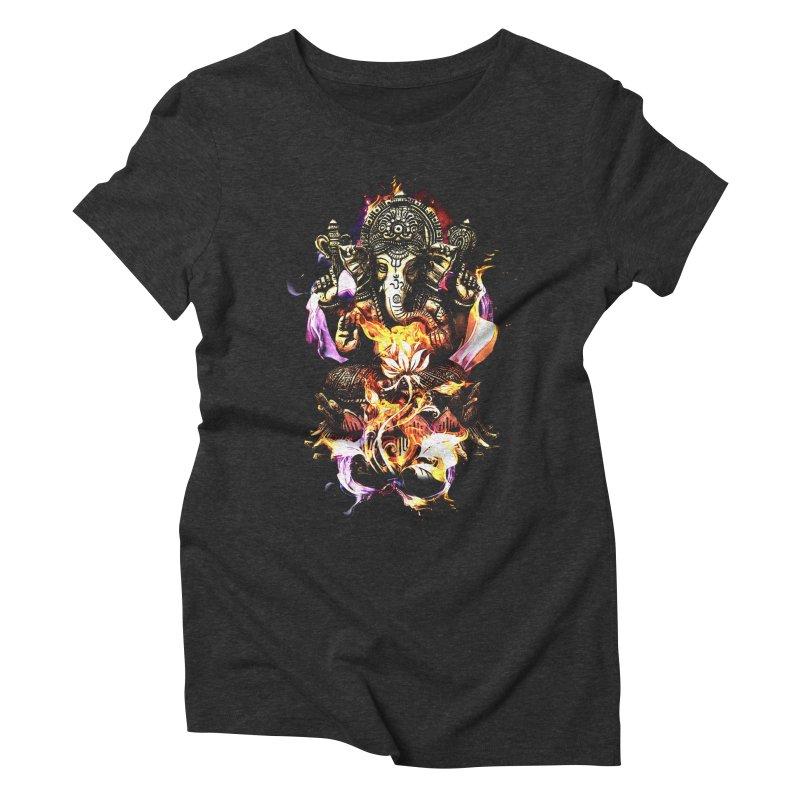 Om Ganeshay Namah Women's Triblend T-Shirt by saksham's Artist Shop