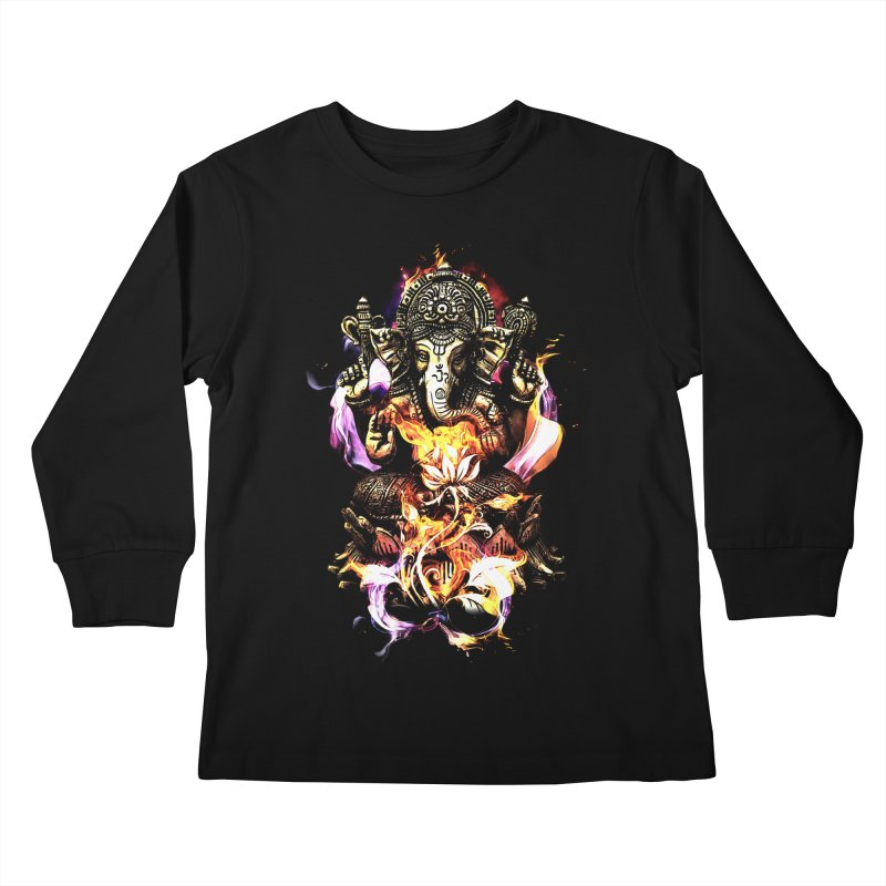 Om Ganeshay Namah Kids Longsleeve T-Shirt by Saksham Artist Shop