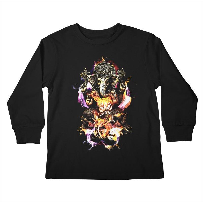 Om Ganeshay Namah Kids Longsleeve T-Shirt by saksham's Artist Shop