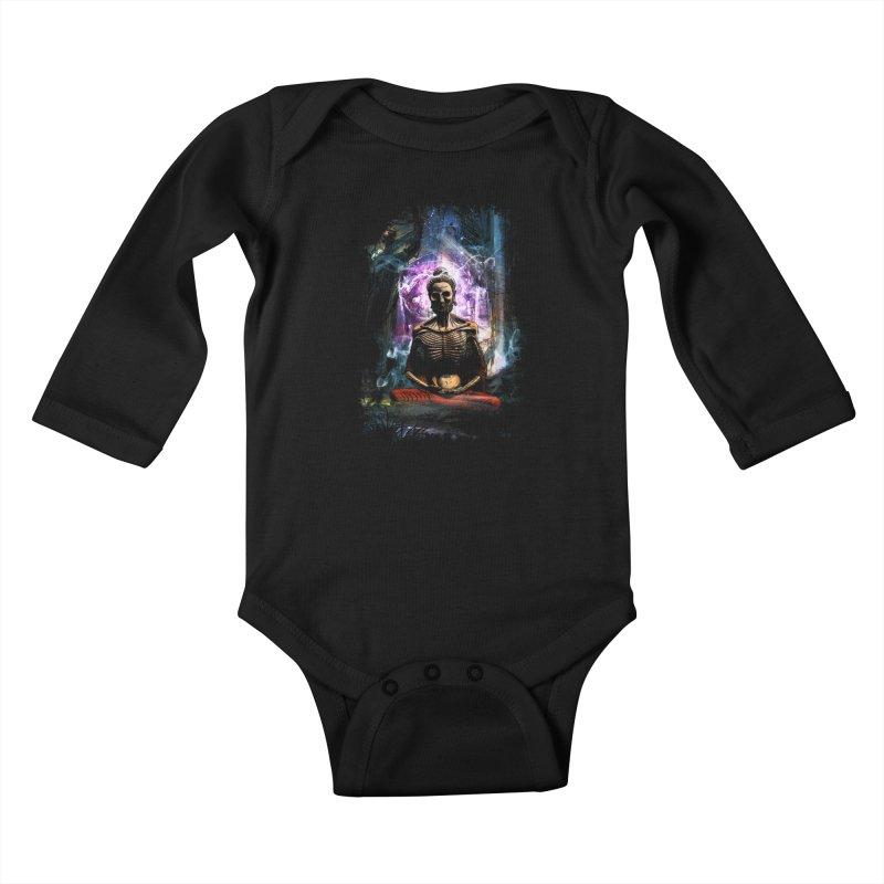 Spiritual Healing Kids Baby Longsleeve Bodysuit by saksham's Artist Shop