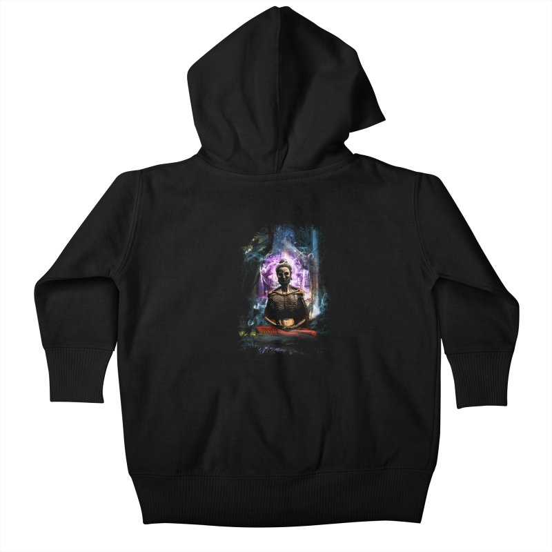 Spiritual Healing Kids Baby Zip-Up Hoody by saksham's Artist Shop