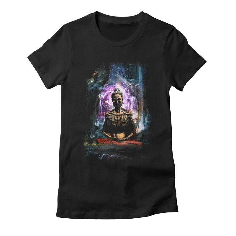Spiritual Healing Women's Fitted T-Shirt by Saksham Artist Shop