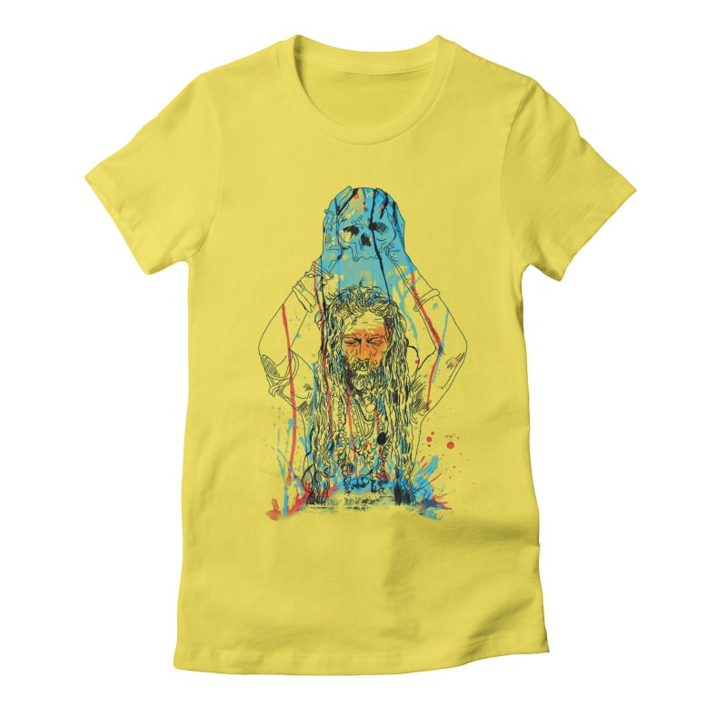 Alakh Women's Fitted T-Shirt by Saksham Artist Shop