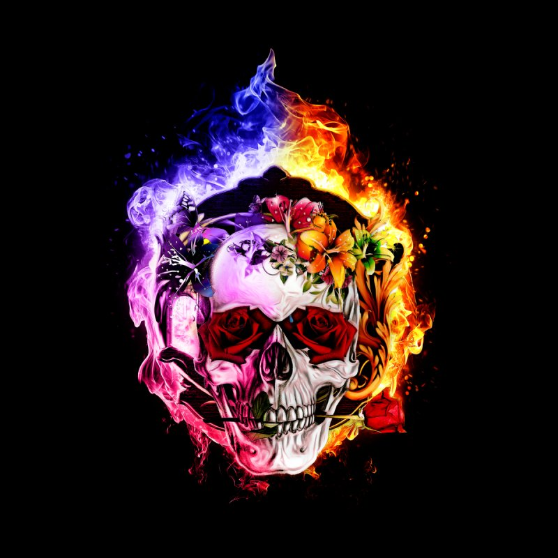 Love VS Hate skull None  by saksham's Artist Shop