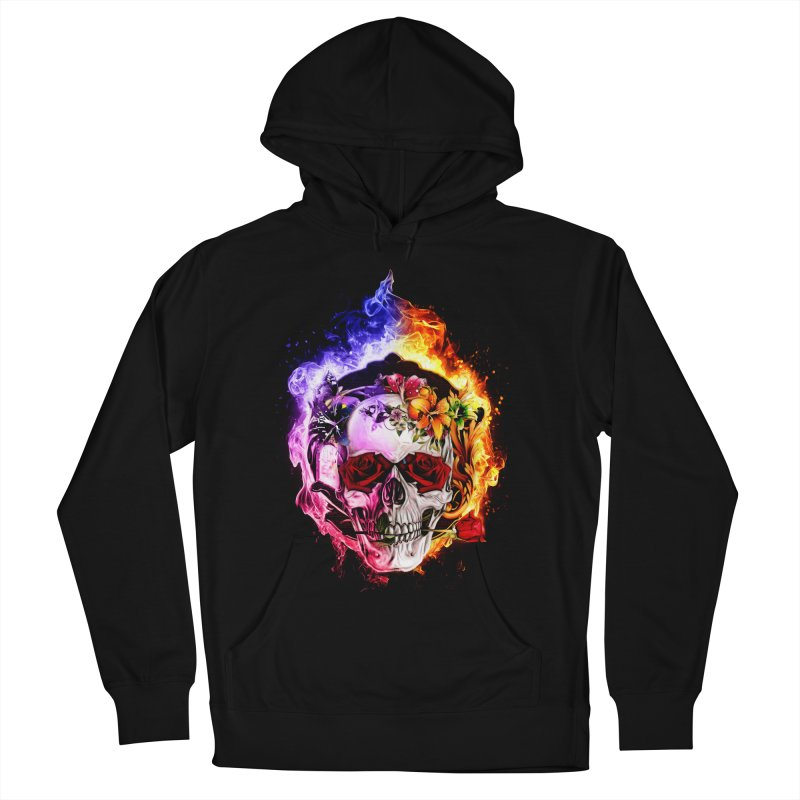Love VS Hate skull Women's Pullover Hoody by saksham's Artist Shop