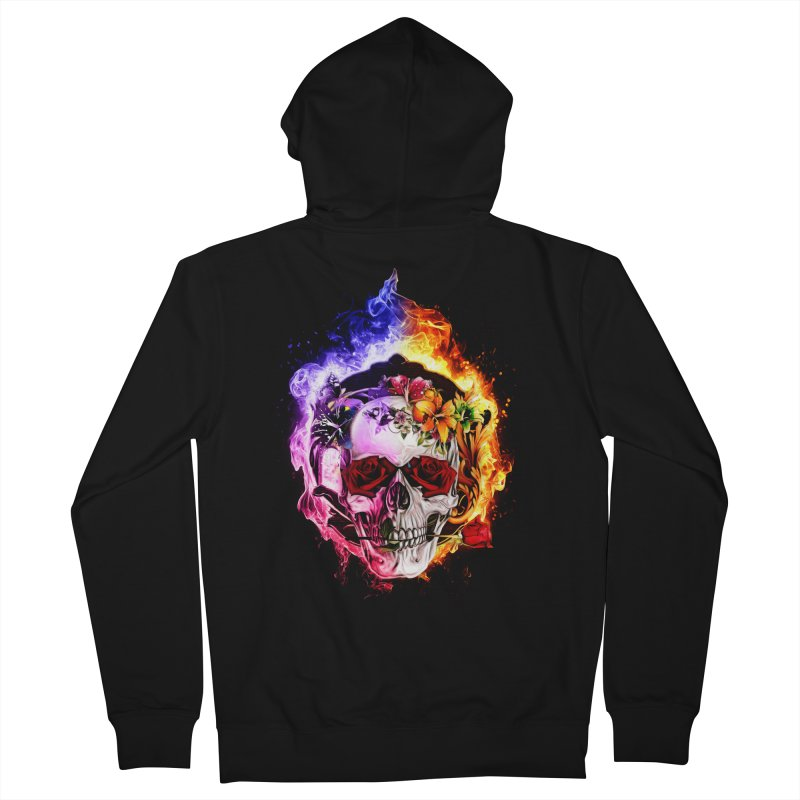 Love VS Hate skull Men's French Terry Zip-Up Hoody by Saksham Artist Shop