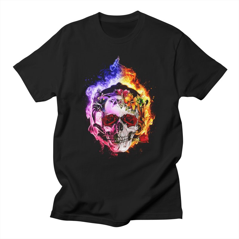 Love VS Hate skull Men's Regular T-Shirt by Saksham Artist Shop