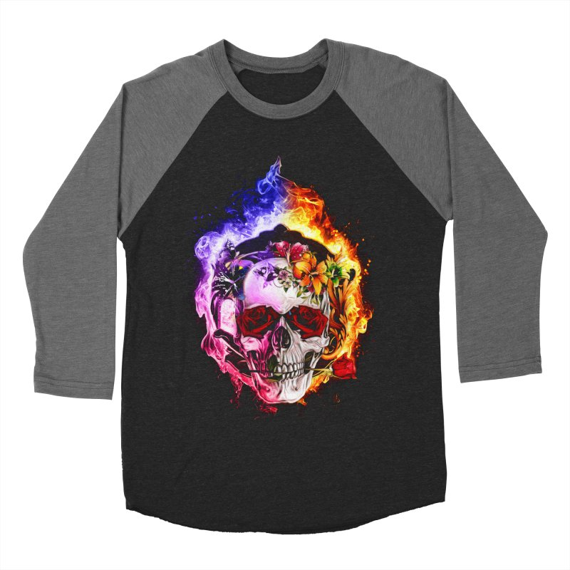 Love VS Hate skull Women's Baseball Triblend T-Shirt by saksham's Artist Shop