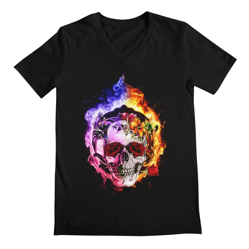 Love VS Hate skull Men's Regular V-Neck by saksham's Artist Shop