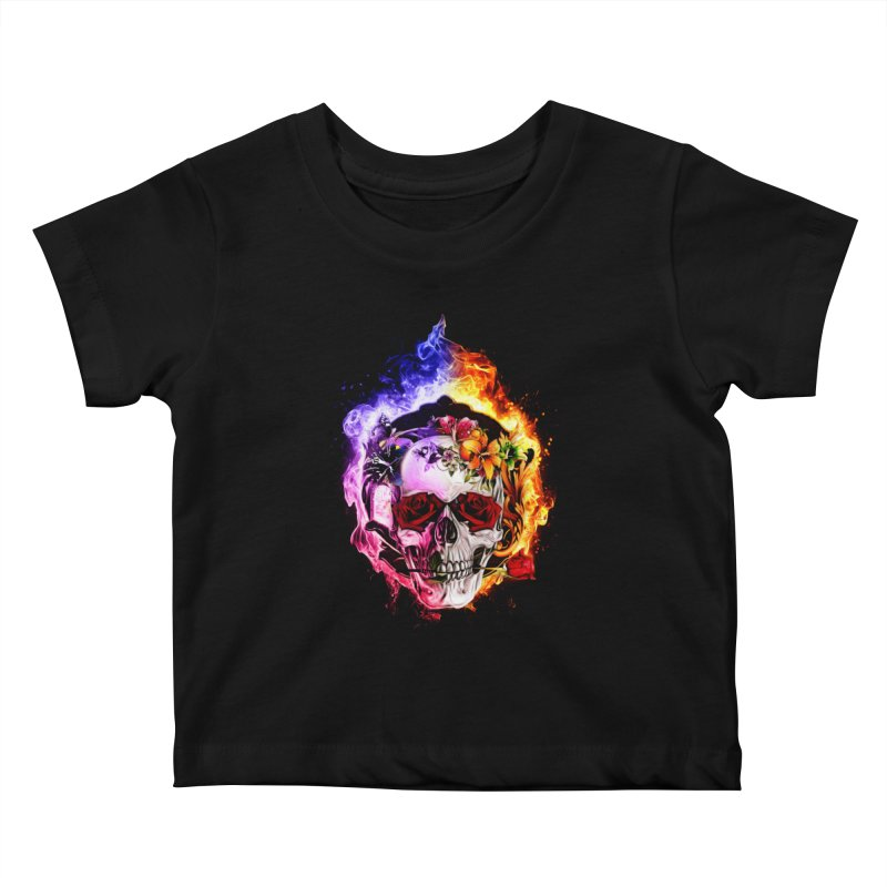 Love VS Hate skull Kids Baby T-Shirt by Saksham Artist Shop