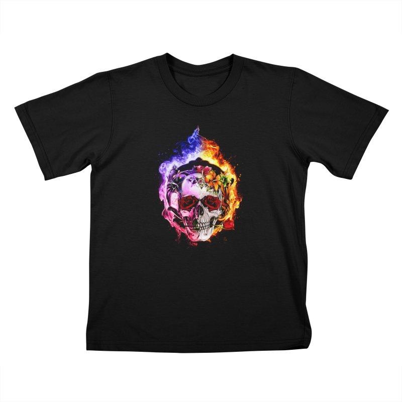 Love VS Hate skull Kids T-Shirt by saksham's Artist Shop