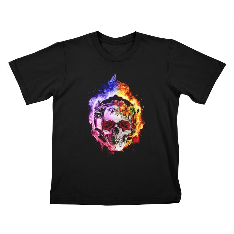Love VS Hate skull Kids T-Shirt by Saksham Artist Shop