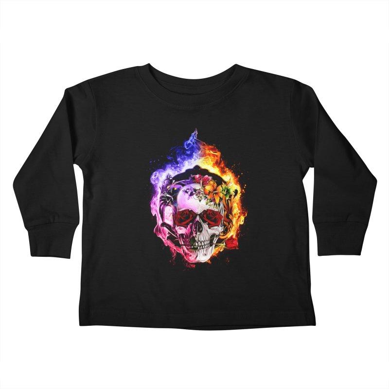 Love VS Hate skull Kids Toddler Longsleeve T-Shirt by Saksham Artist Shop