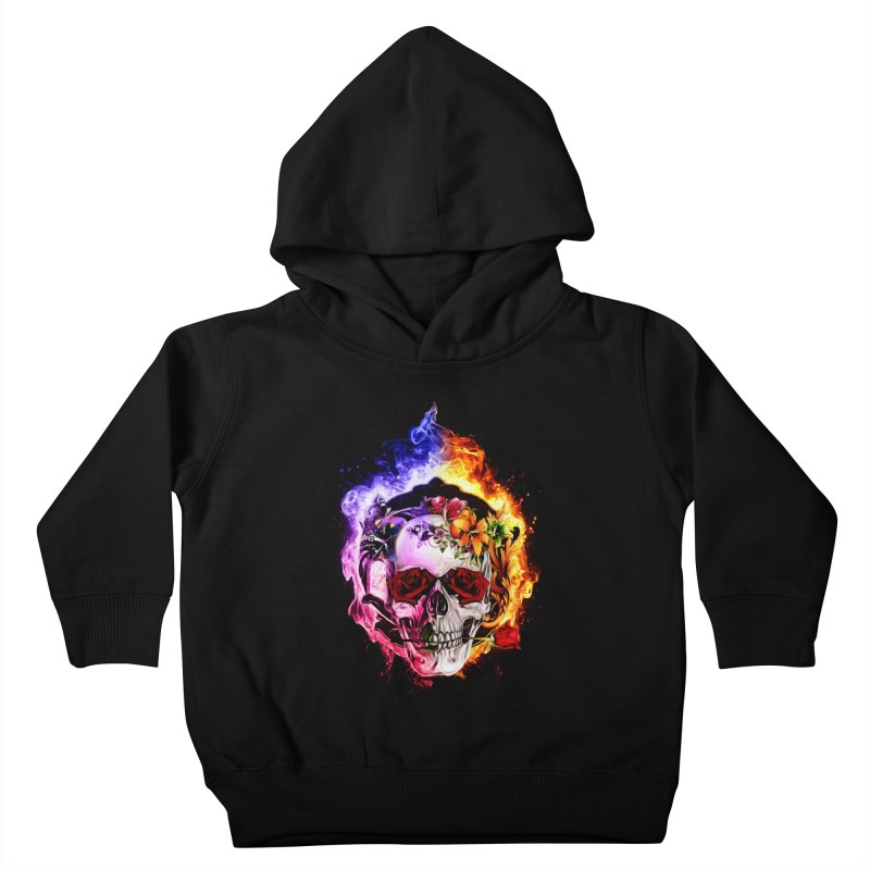 Love VS Hate skull Kids Toddler Pullover Hoody by Saksham Artist Shop