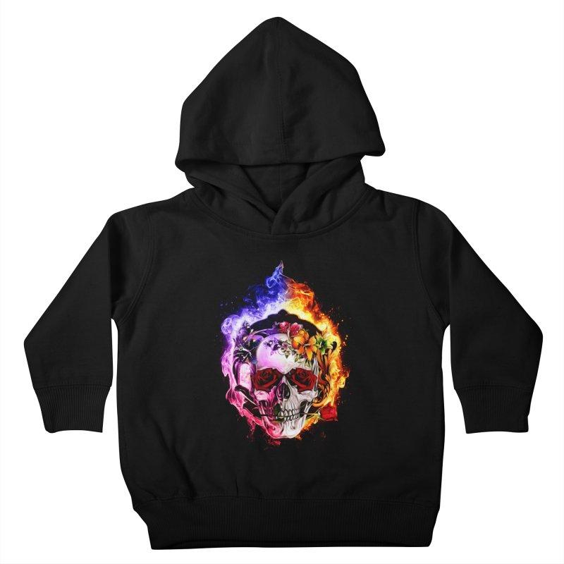 Love VS Hate skull Kids Toddler Pullover Hoody by saksham's Artist Shop