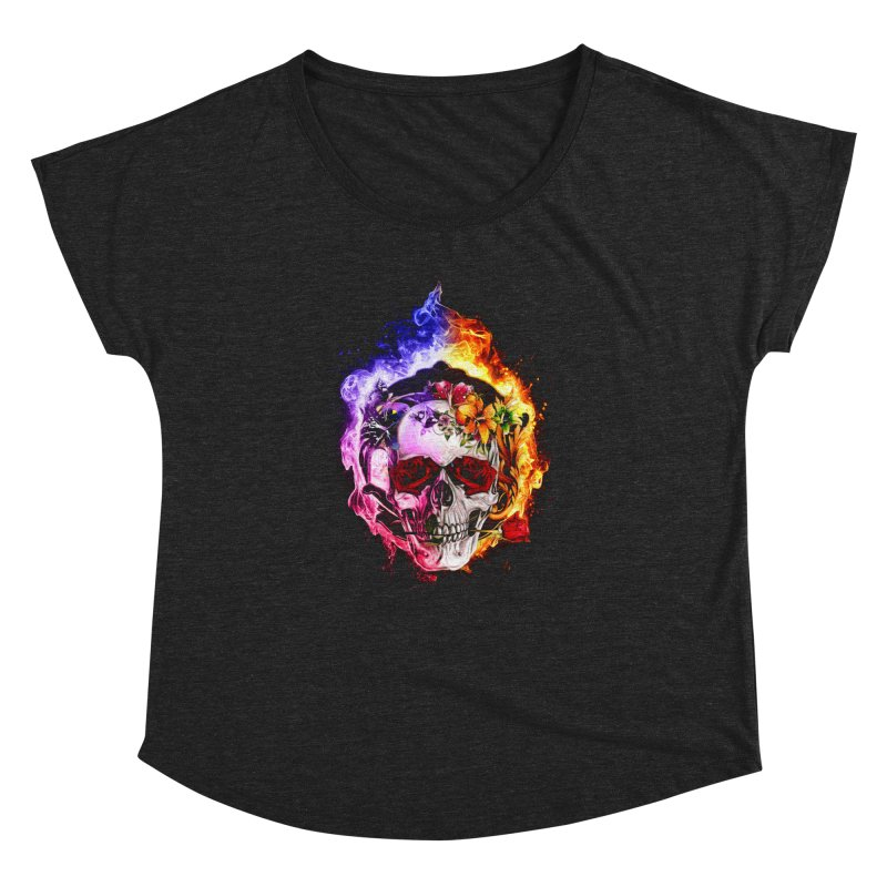 Love VS Hate skull Women's Dolman Scoop Neck by saksham's Artist Shop