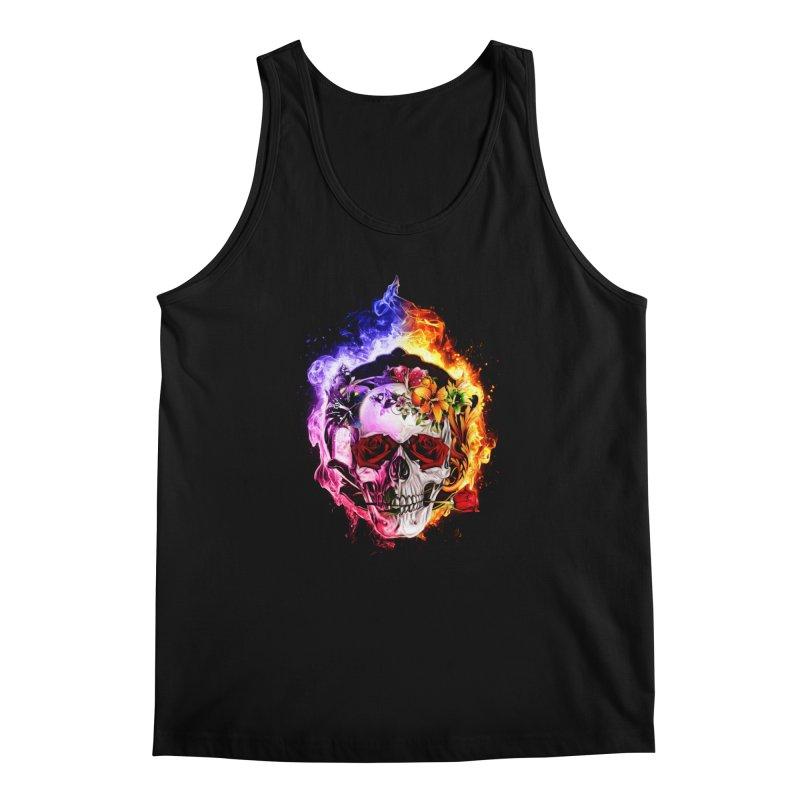 Love VS Hate skull Men's Tank by Saksham Artist Shop