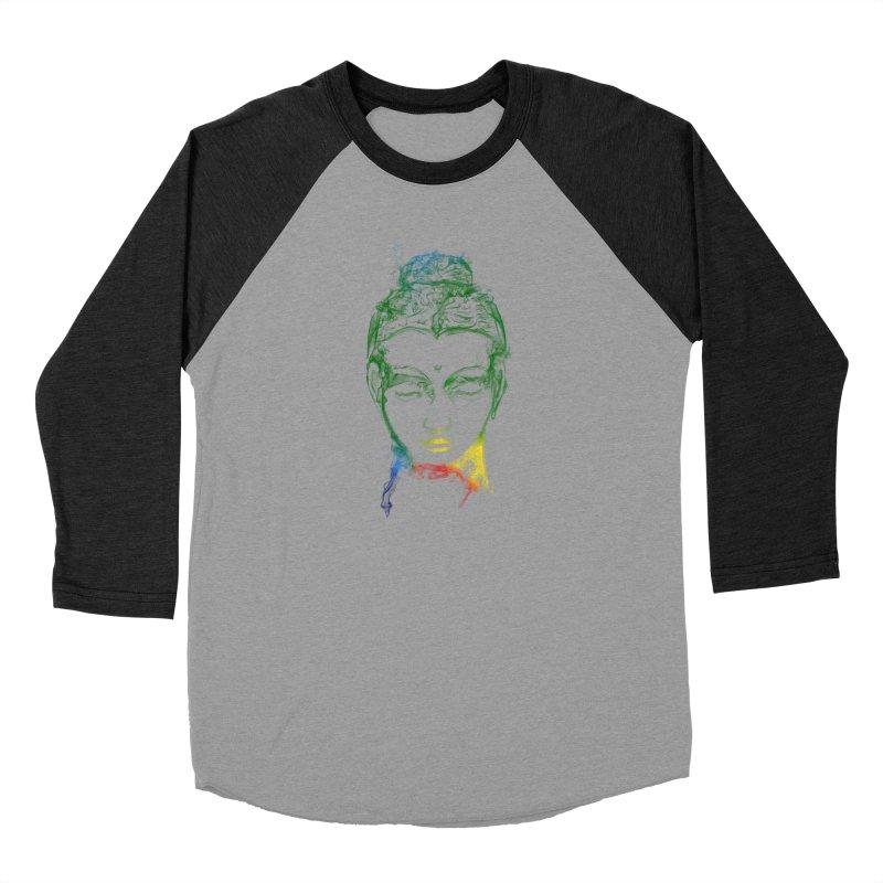 Buddha Light Women's Baseball Triblend Longsleeve T-Shirt by Saksham Artist Shop
