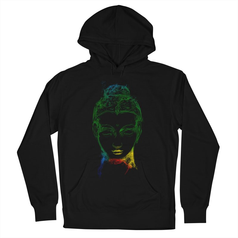 Buddha Light Women's French Terry Pullover Hoody by saksham's Artist Shop
