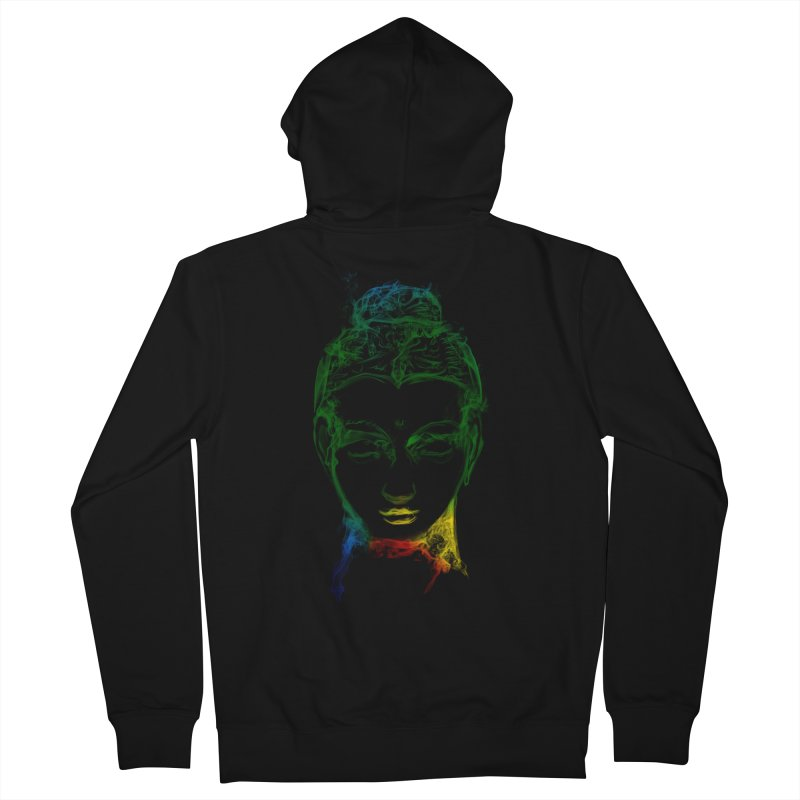 Buddha Light Women's French Terry Zip-Up Hoody by saksham's Artist Shop