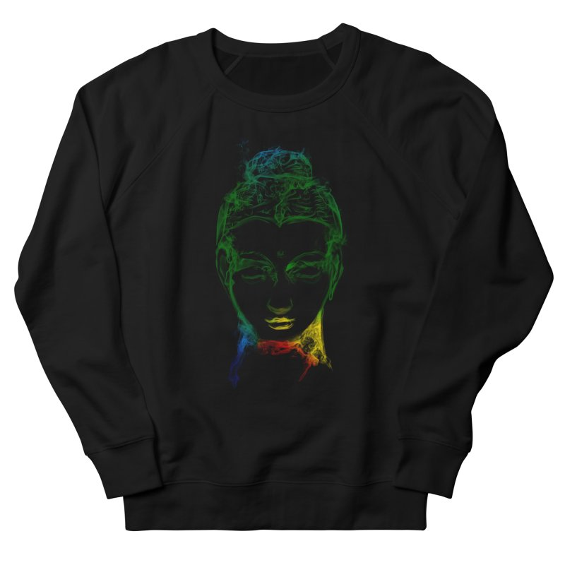 Buddha Light Women's French Terry Sweatshirt by Saksham Artist Shop