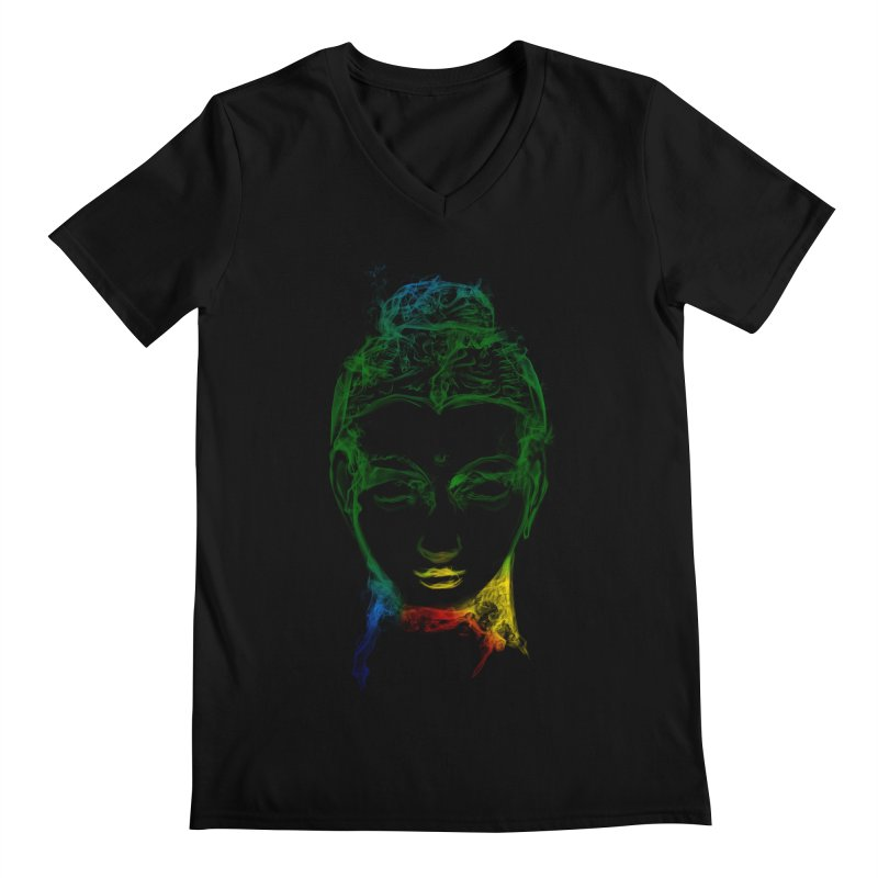 Buddha Light Men's Regular V-Neck by saksham's Artist Shop