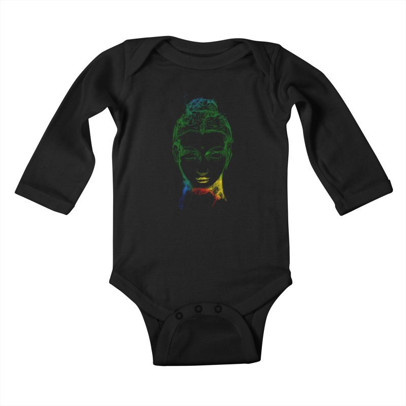 Buddha Light Kids Baby Longsleeve Bodysuit by Saksham Artist Shop