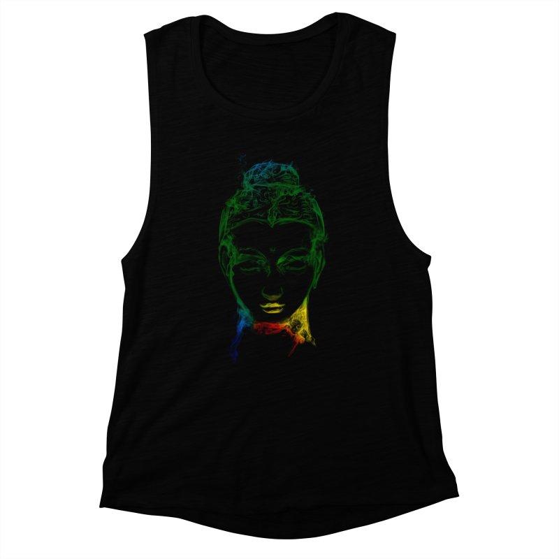 Buddha Light Women's Muscle Tank by Saksham Artist Shop