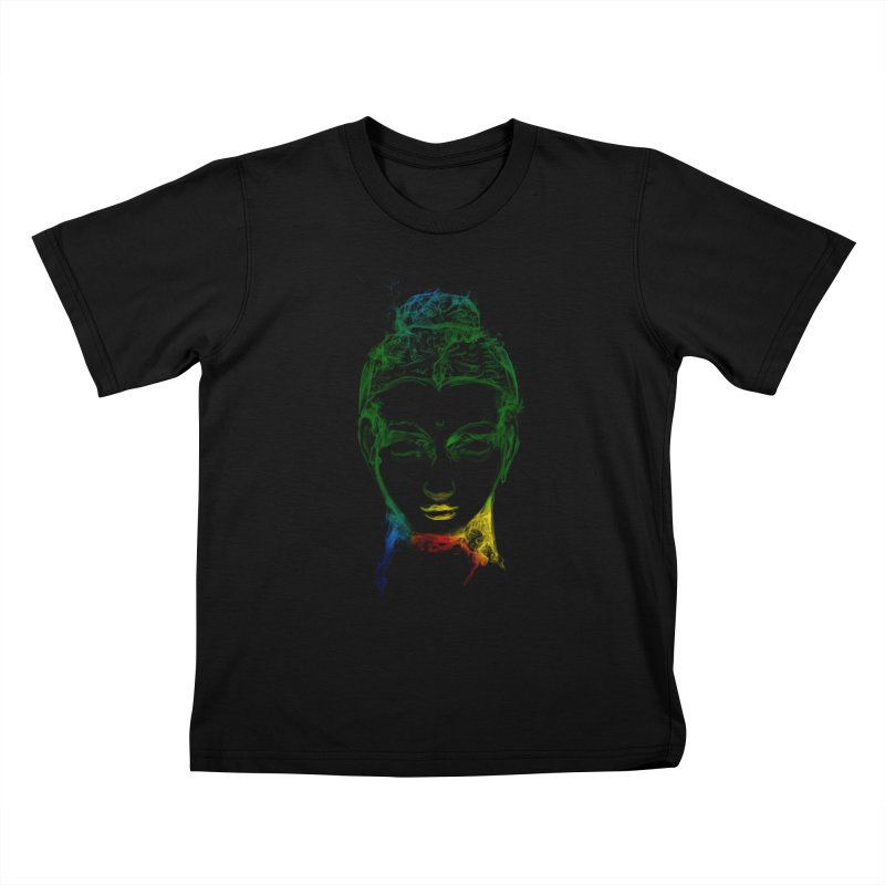 Buddha Light Kids T-Shirt by Saksham Artist Shop