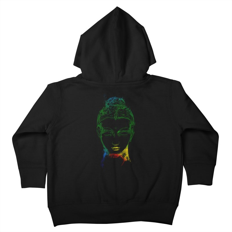 Buddha Light Kids Toddler Zip-Up Hoody by saksham's Artist Shop
