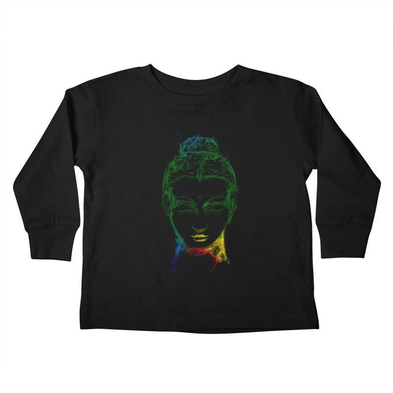 Buddha Light Kids Toddler Longsleeve T-Shirt by Saksham Artist Shop