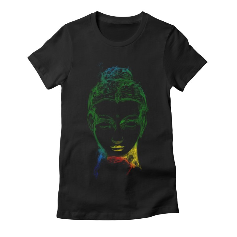 Buddha Light Women's Fitted T-Shirt by Saksham Artist Shop