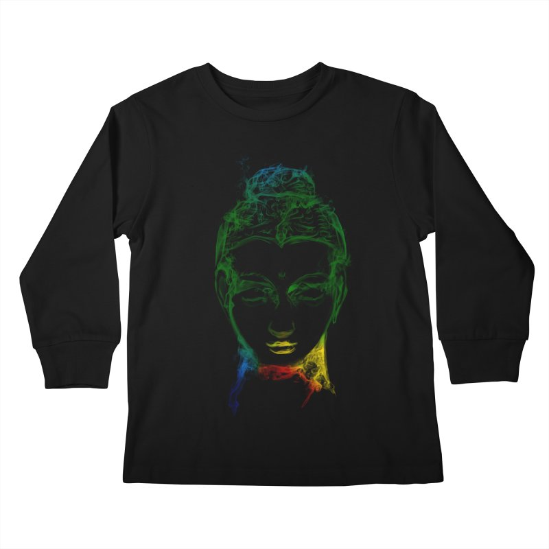 Buddha Light Kids Longsleeve T-Shirt by saksham's Artist Shop