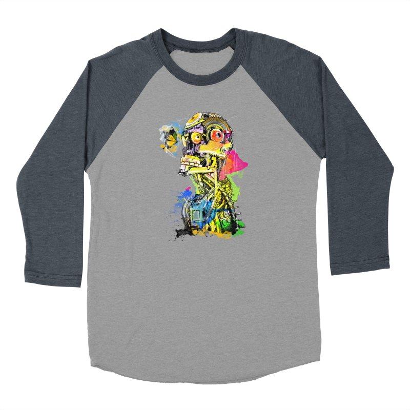 Machine hearted Men's Baseball Triblend Longsleeve T-Shirt by Saksham Artist Shop