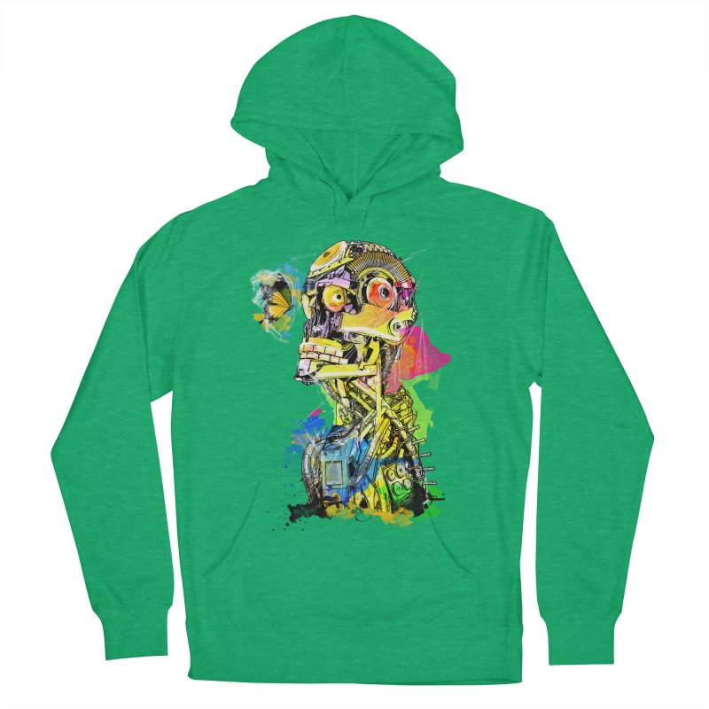 Machine hearted Women's French Terry Pullover Hoody by saksham's Artist Shop
