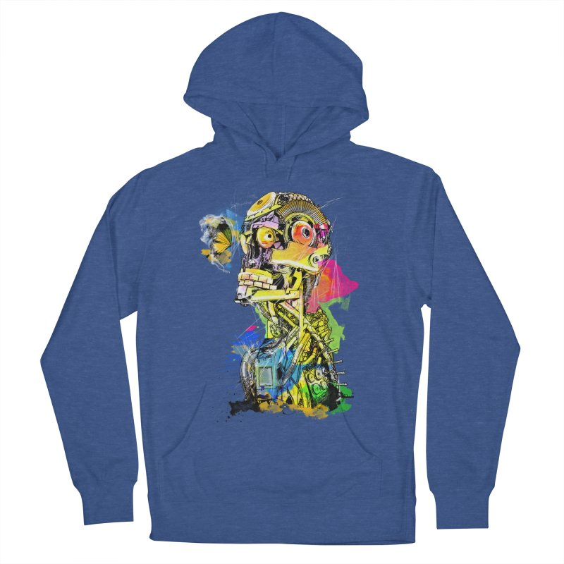 Machine hearted Women's French Terry Pullover Hoody by Saksham Artist Shop