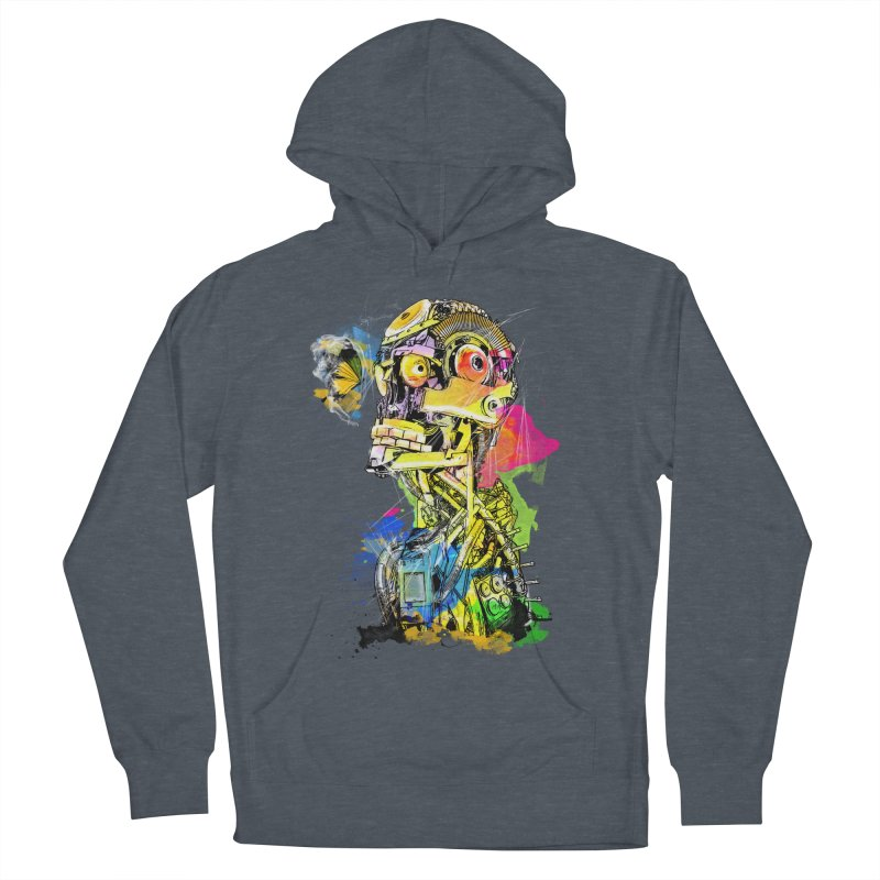 Machine hearted Men's French Terry Pullover Hoody by saksham's Artist Shop
