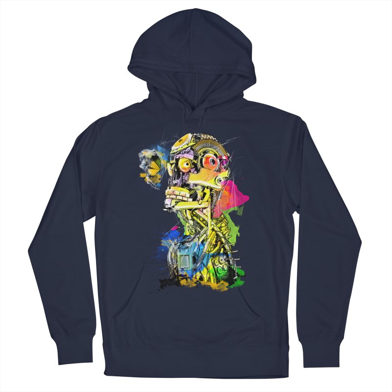 Machine hearted Men's French Terry Pullover Hoody by Saksham Artist Shop