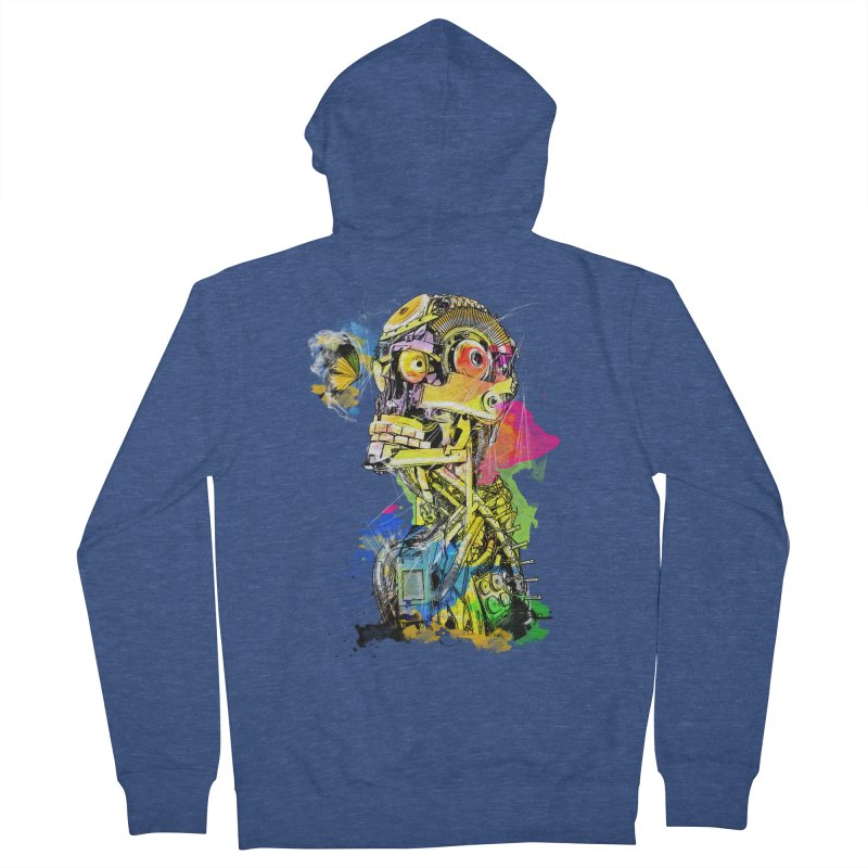 Machine hearted Women's French Terry Zip-Up Hoody by Saksham Artist Shop