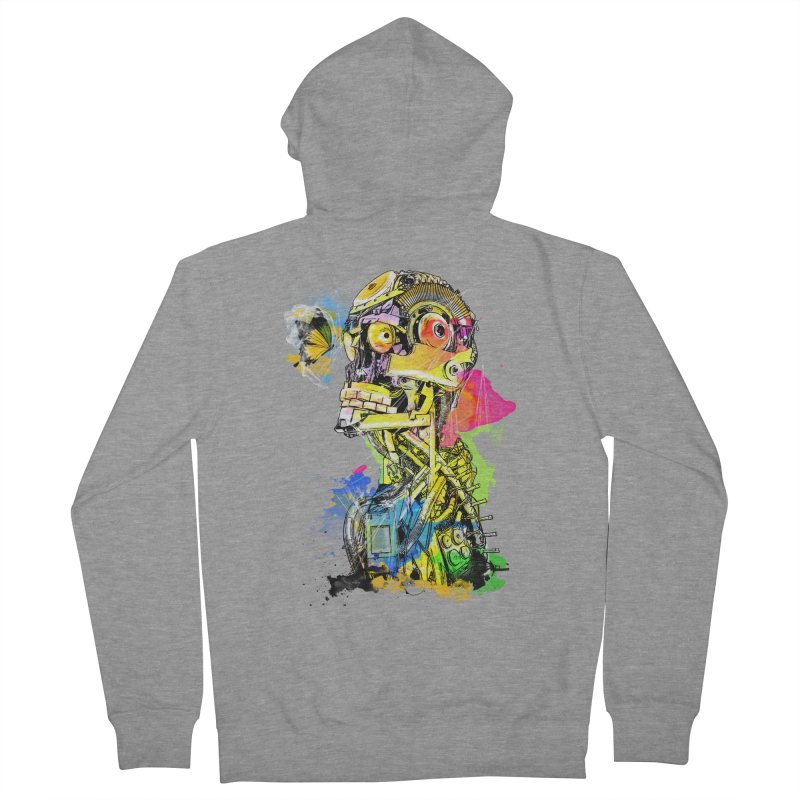 Machine hearted Women's Zip-Up Hoody by saksham's Artist Shop