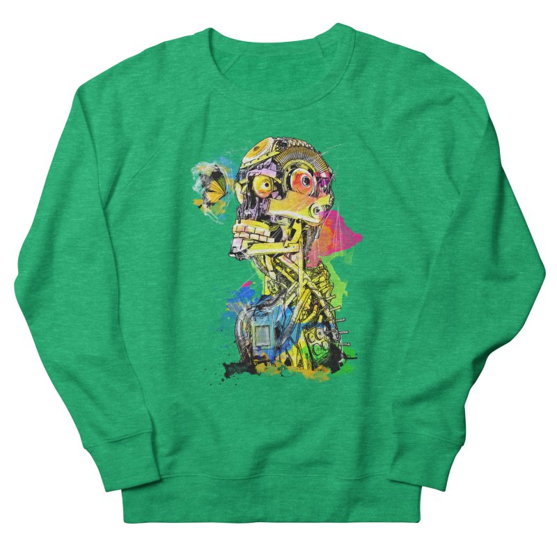 Machine hearted Women's Sweatshirt by Saksham Artist Shop