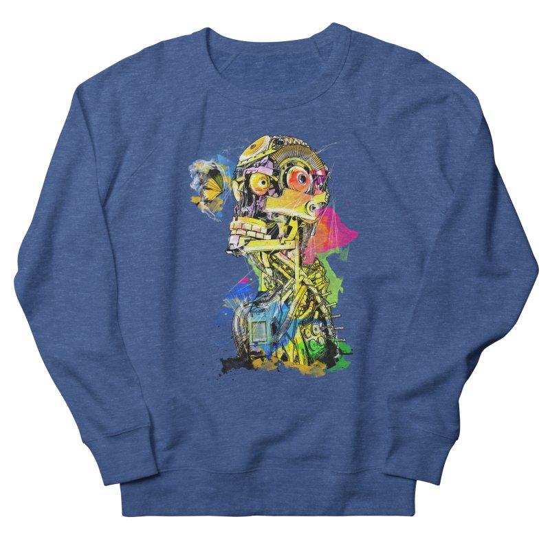 Machine hearted Women's French Terry Sweatshirt by saksham's Artist Shop