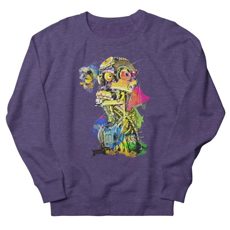 Machine hearted Women's French Terry Sweatshirt by Saksham Artist Shop