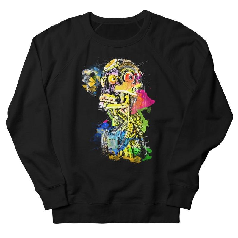 Machine hearted Women's French Terry Sweatshirt by Saksham Artist Shop